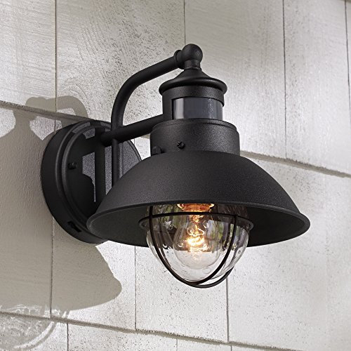 "Oberlin 9""H Black Dusk To Dawn Motion Sensor Outdoor Light Review"