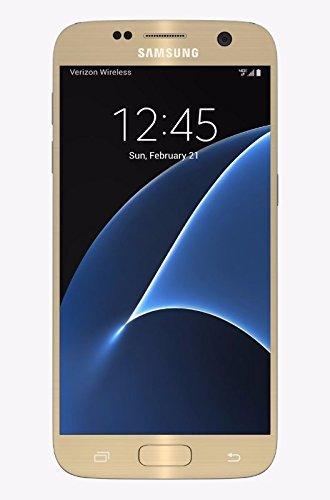 Straight Samsung Galaxy S7 Platinum Gold Verizon