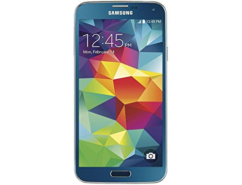 """Straight Samsung Galaxy S5 """"Electric Blue"""" Cell Phone"""