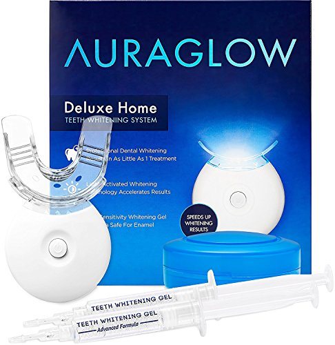 The AuraGlow Teeth Whitening Kit with LED Light, 35% Carbamide Peroxide
