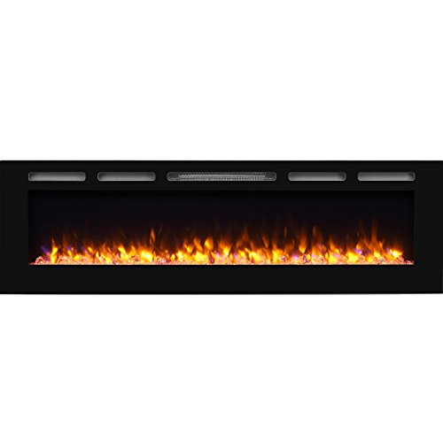 PuraFlame Alice 68 inches Recessed Electric Fireplace