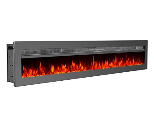 GMHome 70 Inches Wall Recessed Electric Fireplace
