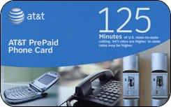 At&t Prepaid Phone Card - 125 Min