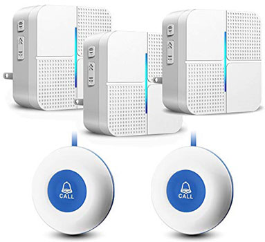 JOYSAE Wireless Caregiver Pager Personal Call Button Alert System - Emergency Call Button For Seniors No Monthly Fee