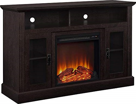 Ameriwood Home Centre - Corner Electric Fireplace TV Stand