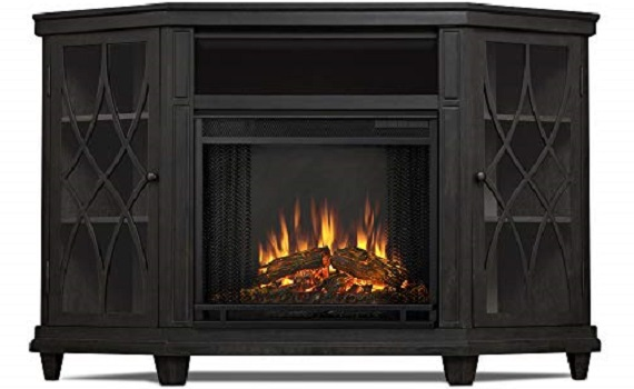 Real Flame Lynette Corner Electric Fireplace