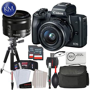 Canon EOS M50 Mirrorless Camera Deluxe Photo Bundle