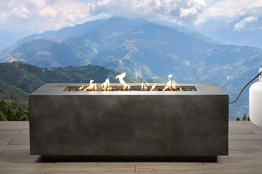Century Modern Outdoor Large Concrete Fire Pit