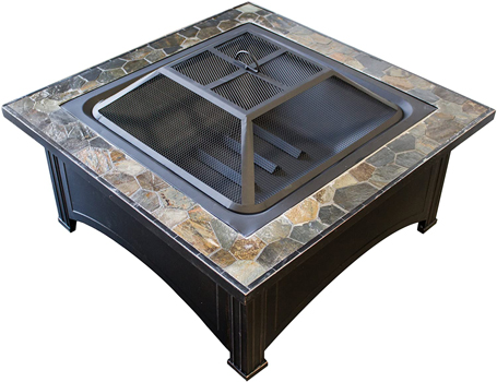 Hiland FT-51133D Wood Burning Square Table Firepit