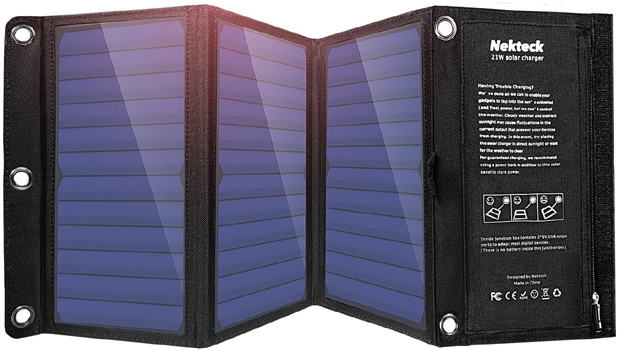 21-Watt Nekteck Travel Solar Charger