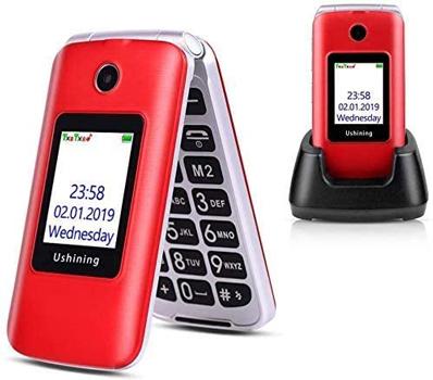 Ushining 3G Unlocked Flip Cell Phone for Senior