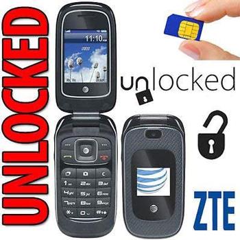 ZTE Z223 3G GSM Unlocked Flip Phone (at&t)