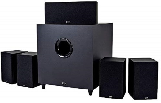 Monoprice 10565 Premium 5.1 Home Theater System with Subwoofer