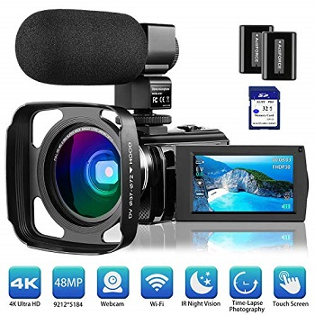 Rosdeca 4K Camcorder Video Camera for filmmaking