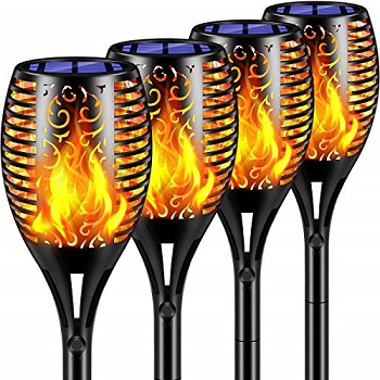 TomCare Solar Lights 2nd Version Flickering Flame