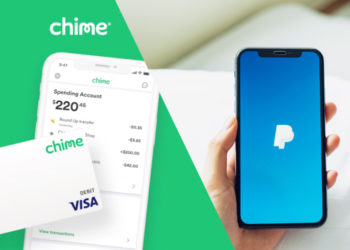 Transfer Money From Chime to PayPal Concept
